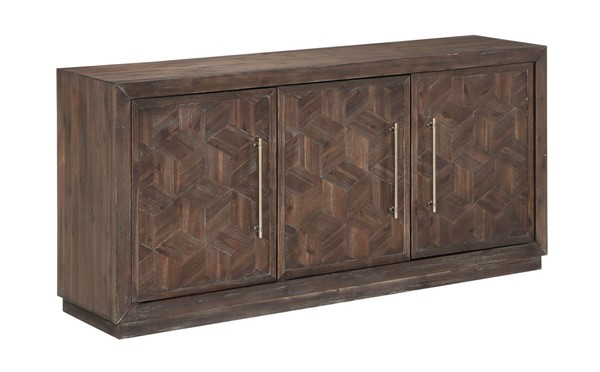 Coast to Coast Brown Three Door Media Credenza CTC-40282