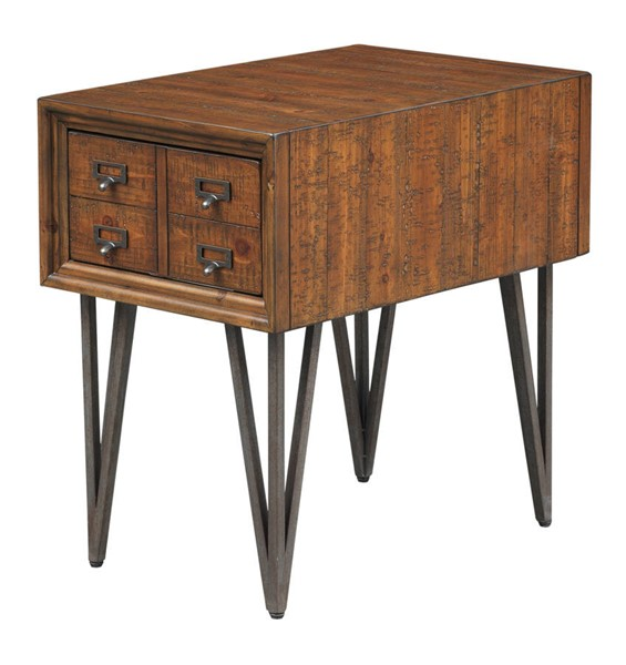 Coast to Coast Oxford Distressed Brown One Drawer Chairside Table CTC-40289