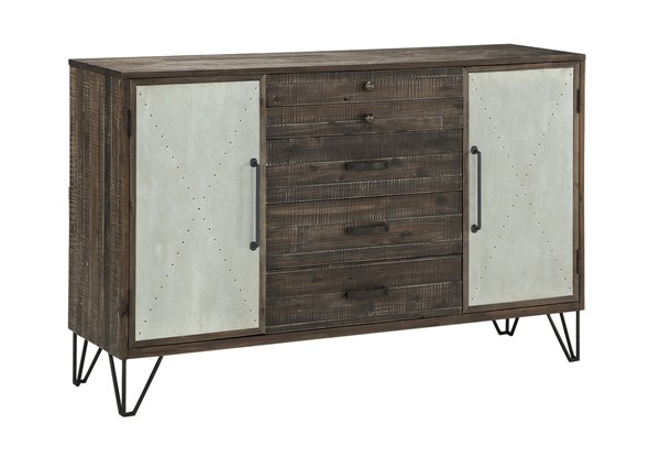 Coast to Coast Brown Two Door Credenza CTC-40294