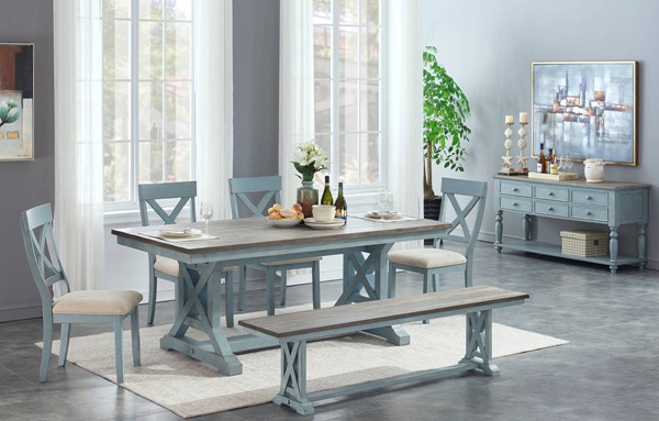 Coast To Coast Bar Harbor Blue 6pc Dining Room Sets CTC-40296-DR-6pc-S-V1