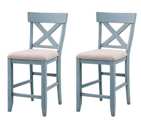 2 Coast To Coast Bar Harbor Blue Counter Height Chairs CTC-40300