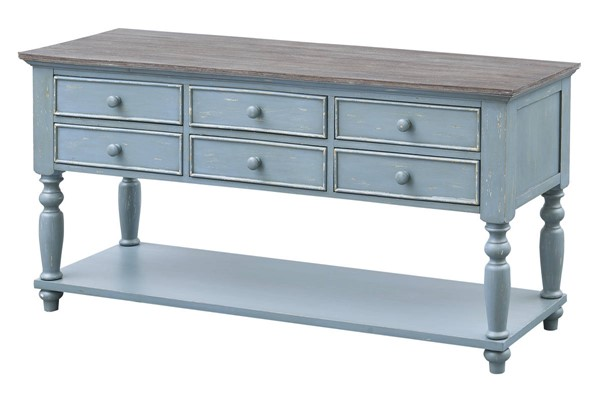 Coast To Coast Bar Harbor Blue Six Drawer Console Tables CTC-40301-ST-V1