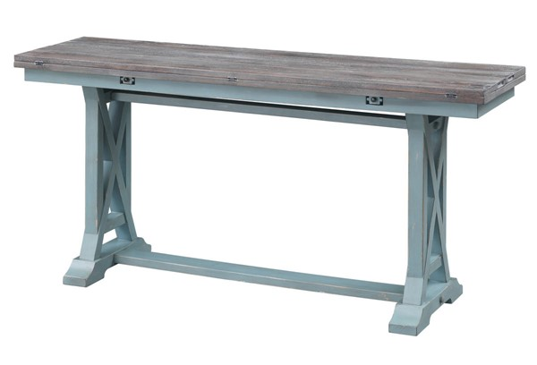 Coast to Coast Bar Harbor Blue Fold Out Console Table CTC-40304