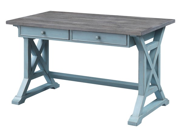Coast To Coast Bar Harbor Blue Two Drawer Writing Desks CTC-40305-OD-V1