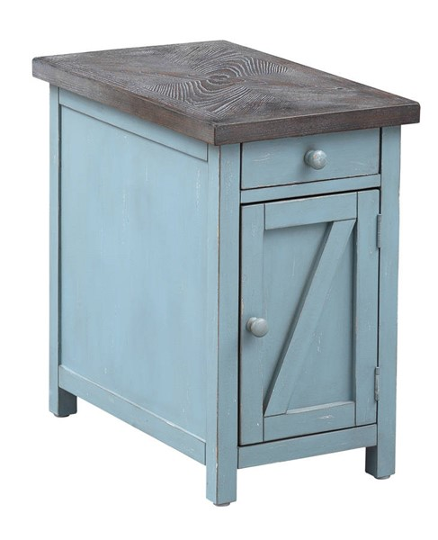 Coast to Coast Bar Harbor Blue One Drawer One Door Chairside Cabinet CTC-40307