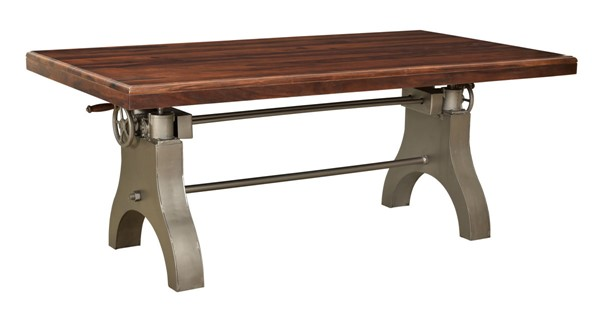 Coast to Coast Tacoma Honey Brown Antique Silver Dining Table CTC-44600