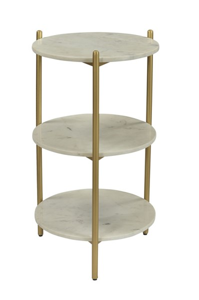 Coast to Coast Gold Round Storage Accent Table CTC-44611