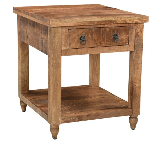 Coast to Coast Millstone Brown One Drawer End Table CTC-44621