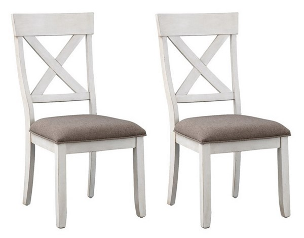 2 Coast to Coast Bar Harbor II Cream Dining Chairs CTC-48105