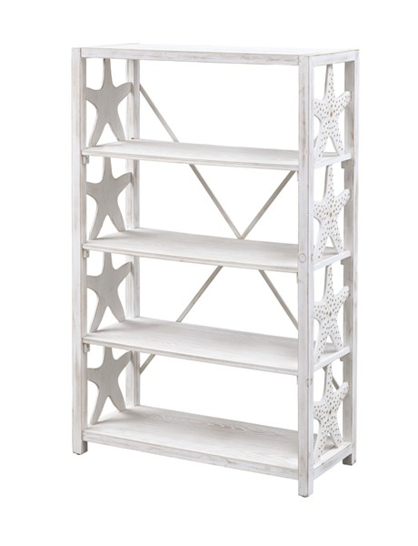 Coast to Coast Wonders Of The Sea White Wash Bookcase CTC-48139