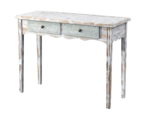 Coast to Coast White Wash 2 Drawer Console CTC-48143
