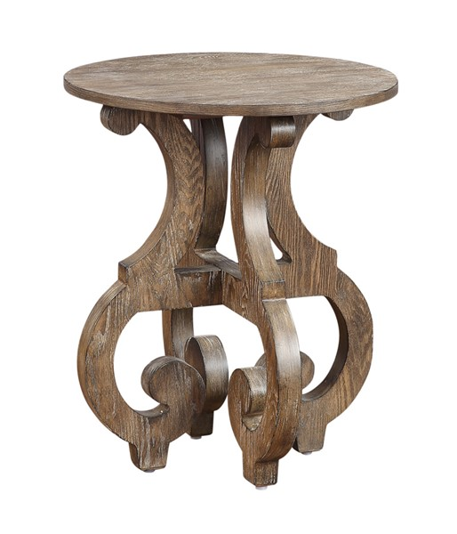 Coast to Coast Sherwood Brown Round End Table CTC-48166