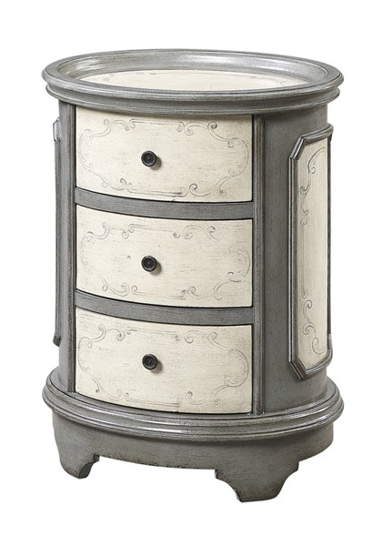 Coast to Coast Grey Oval Chairside Chest CTC-48177