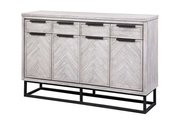 Coast to Coast Aspen Court II White Rub 4 Drawer Media Credenza CTC-48209