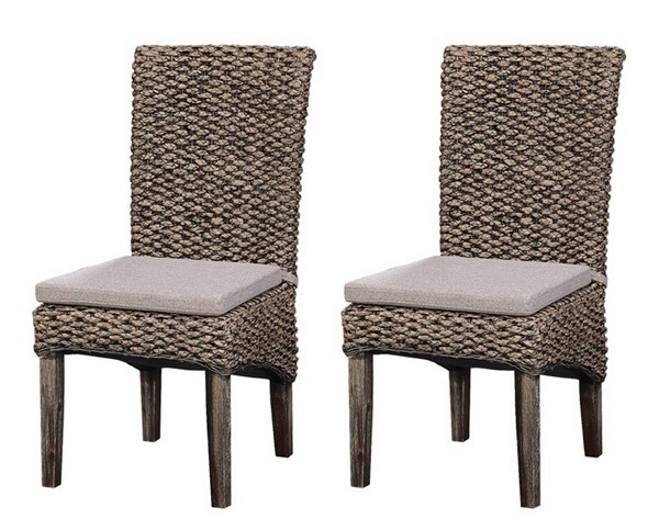 Coast To Coast Brown Seagrass Dining Chairs CTC-48211-DCH-V1