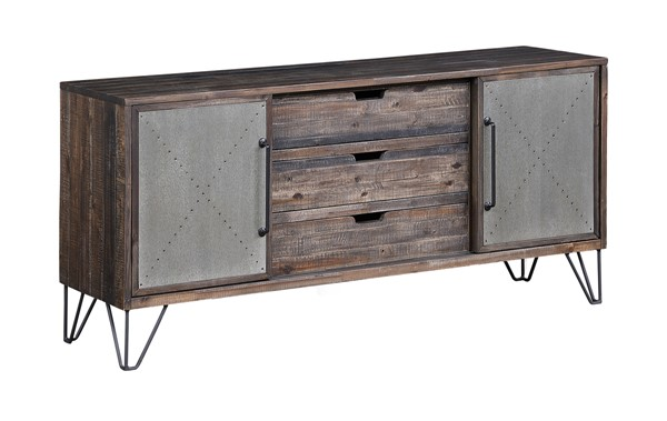 Coast to Coast Aspen Court Vintage Brown Two Sliding Door Three Drawers Media Console CTC-48214