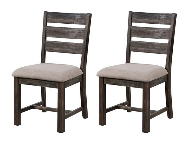 2 Coast To Coast Aspen Court Brown Oatmeal Dining Chairs CTC-48221