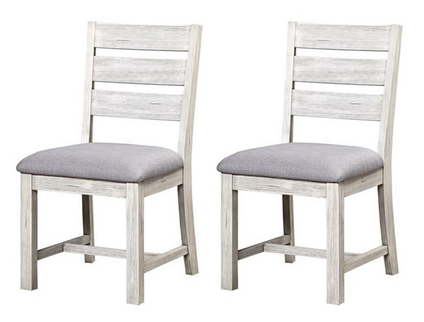 2 Coast To Coast Aspen Court II White Grey Dining Chairs CTC-48223