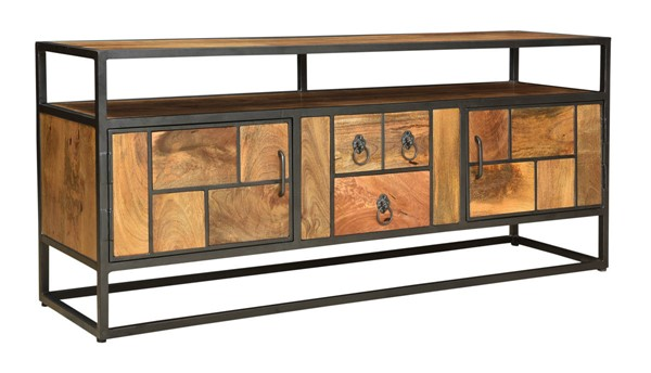 Coast to Coast Market Square Brown Door and Drawer Media Console CTC-49506