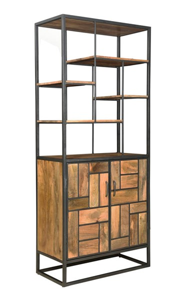 Coast to Coast Market Square Brown Two Door Bookcase CTC-49507