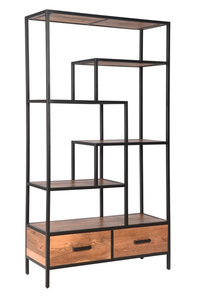 Coast to Coast Charcoal 2 Drawer Bookcase CTC-49516