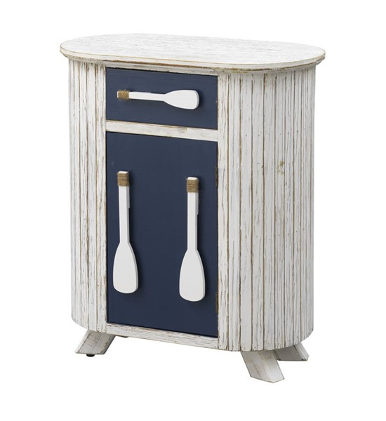 Coast to Coast White One Drawer and Door Accent Cabinet CTC-51515