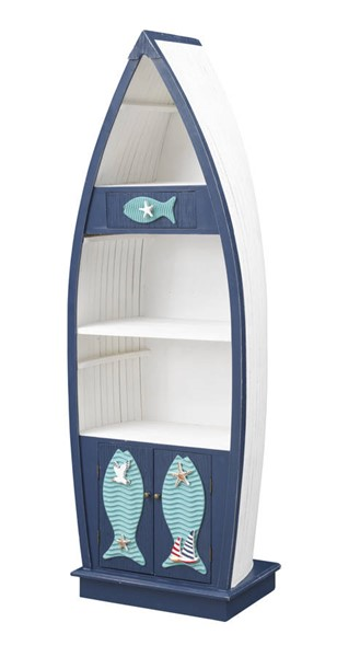 Coast to Coast White Nautical Bookcase CTC-51521