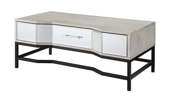 Coast to Coast Gabby White One Drawer Cocktail Table CTC-51544