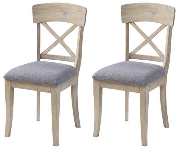 2 Coast to Coast Barrister Light Greyish Brown X Back Dining Chairs CTC-51558