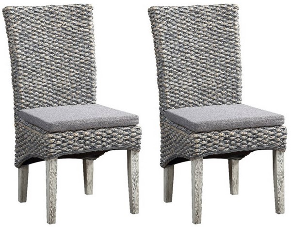 2 Coast to Coast Gray Seagrass Dining Chairs CTC-51560