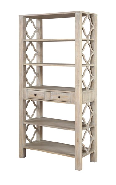Coast to Coast Barrister Light Greyish Brown One Drawer Bookcase CTC-51562