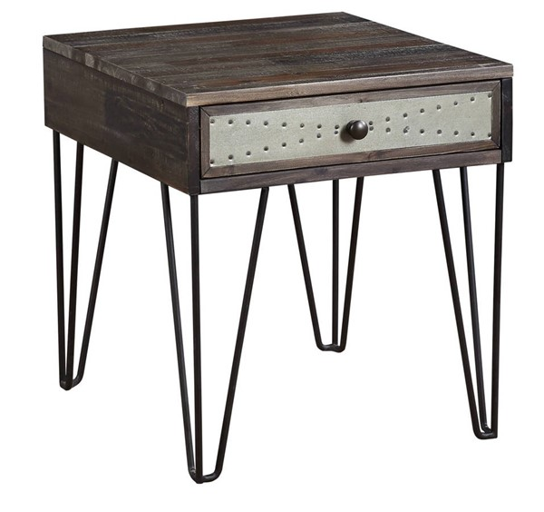 Coast to Coast Aspen Court Vintage Brown 1 Drawer End Table CTC-51575