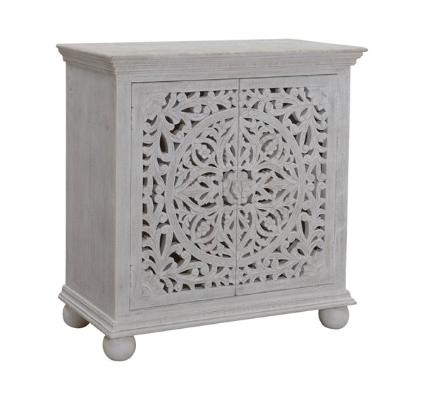 Coast to Coast Bree Whitewashed Two Door Cabinet CTC-53426