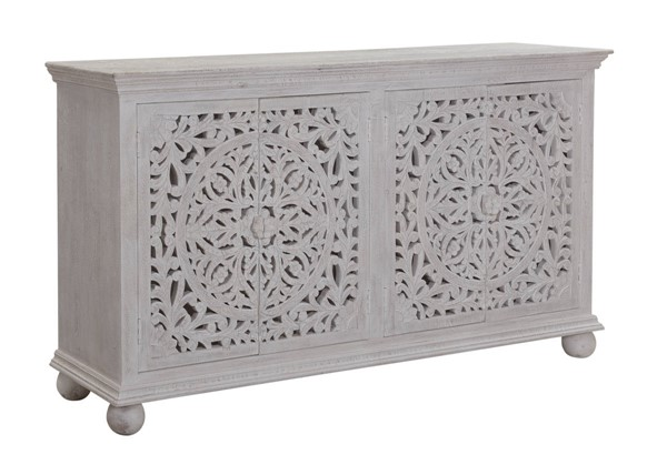 Coast to Coast Bree Whitewashed Four Door Credenza CTC-53427