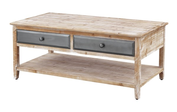 Coast To Coast Bali Natural Graphite Four Drawer Cocktail Table CTC-55611
