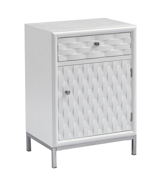 Coast To Coast Islander White One Door One Drawer Chairside CTC-55628