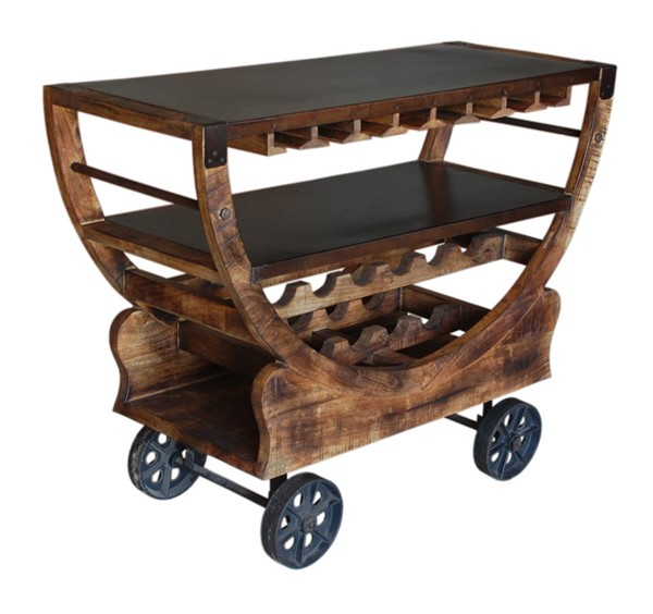 Coast to Coast Brown Bar Trolley CTC-59461