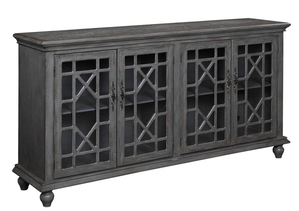 Coast To Coast Grey MDF Four Doors Media Credenza CTC-61711