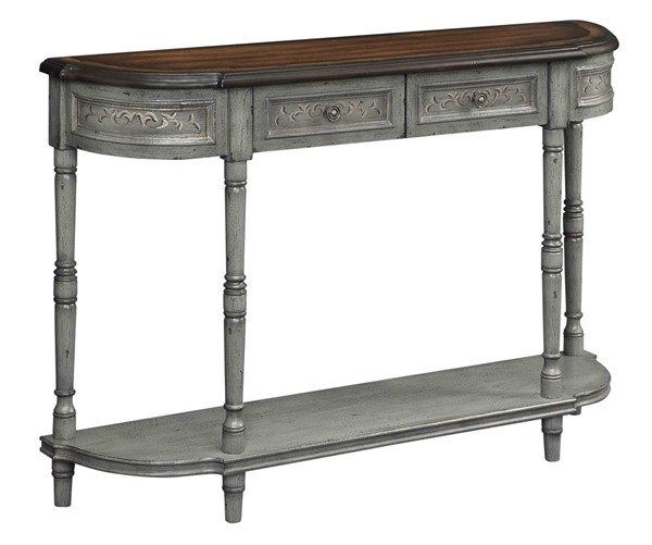 Coast to Coast Markham Grey Brown Two Drawers Console Table CTC-70778