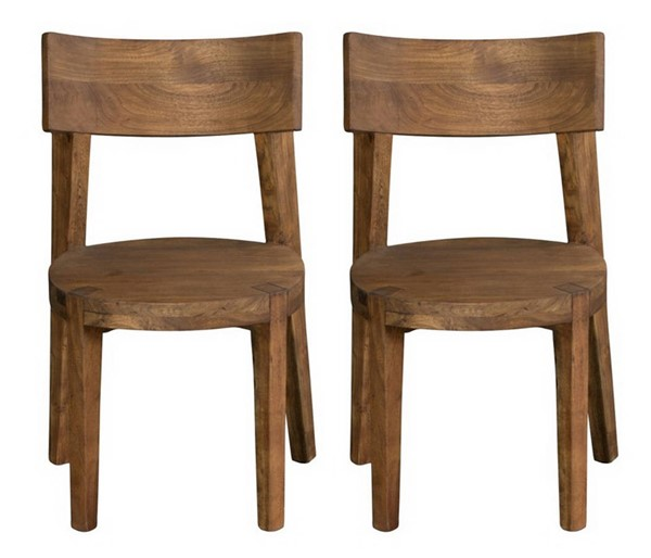 2 Coast to Coast Sequoia Light Brown Round Seat Dining Chairs CTC-75357