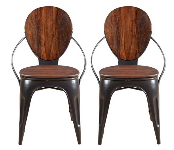 2 Coast to Coast Adler Brown Dining Chairs CTC-79705