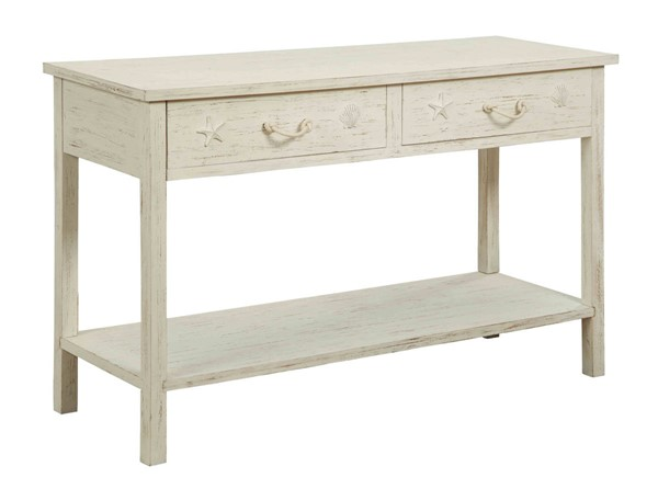 Coast to Coast Sanibel White Two Drawers Console Table CTC-91741