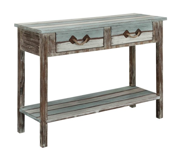 Coast to Coast Islander Weathered Two Drawers Console Table CTC-91747