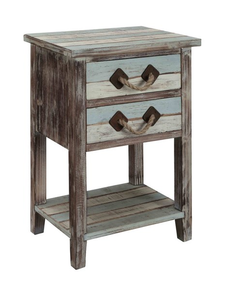 Coast to Coast Islander Weathered Two Drawers Accent Table CTC-91748