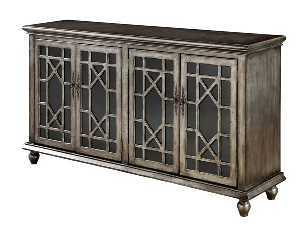 Coast To Coast Metallic MDF Four Doors Media Credenza CTC-91831