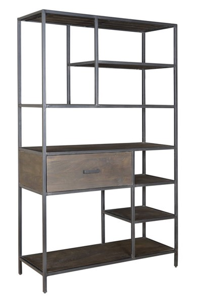 Coast to Coast Ancia Smoke One Drawer Bookcase CTC-93407