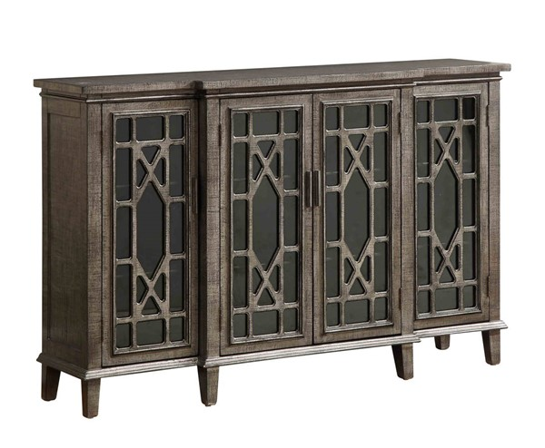 Coast to Coast Gunmetallic Metallic Four Door Media Credenza CTC-96621