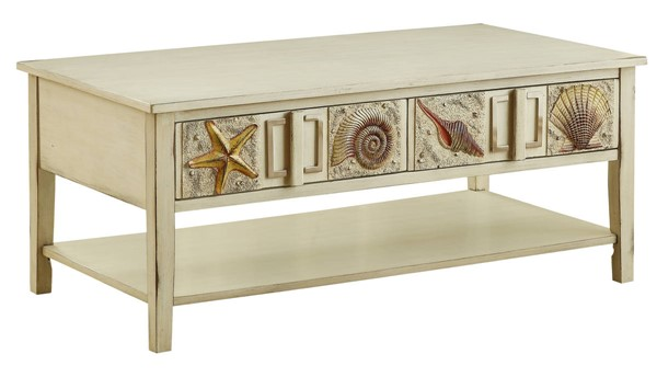 Coast to Coast Surfside Cream Two Drawer Cocktail Table CTC-96666