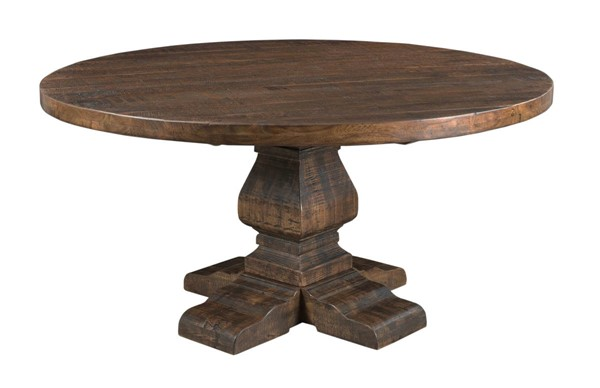 Coast to Coast Woodbridge Distressed Brown Round Dining Table CTC-98211
