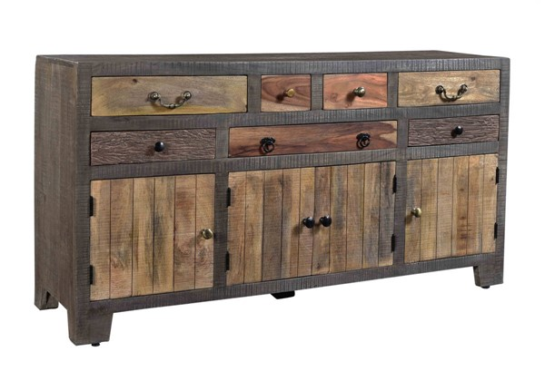 Coast to Coast Woodland Brown Seven Drawers Four Doors Credenza CTC-98226